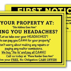 real estate investor postcards